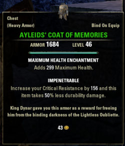 Ayleids coat of memories