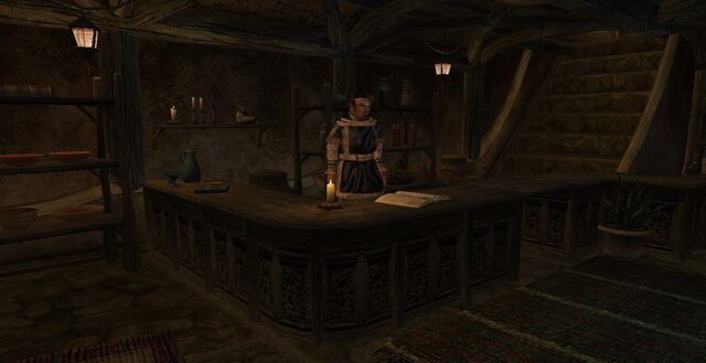 File:TES3 Morrowind - Balmora - Clagius Clanler Outfitter interior.jpg