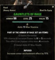 Armor of Rage - Gauntlets 25