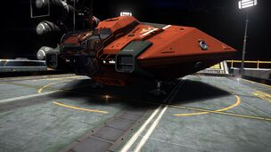 E-D - Asp Explorer - Red Pharao Front View on Outpost
