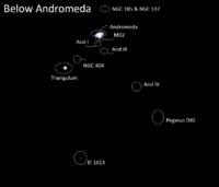 External Galaxies Below Andromeda