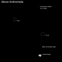 Galaxies Above Andromeda