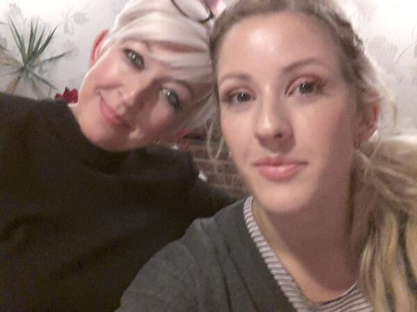 Photo of Ellie Goulding & her Mother  Tracey