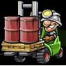 Crates of crude