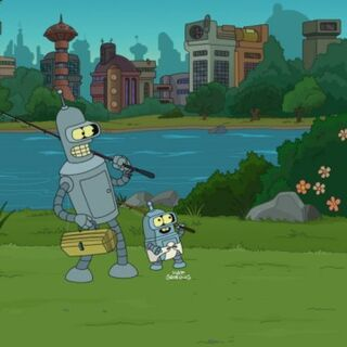 Bender and his son Ben Vending Rodriguez