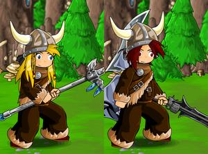 Viking Fur and Helmet