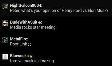 Peter likes Ford vs Musk