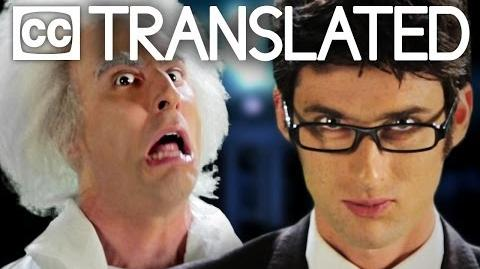 TRANSLATED Doc Brown vs Doctor Who. Epic Rap Battles of History