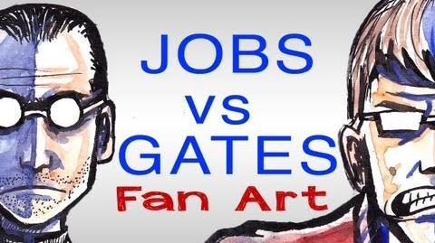 EPIC DRAWING OF HISTORY - Bill Gates VS Steve Jobs!