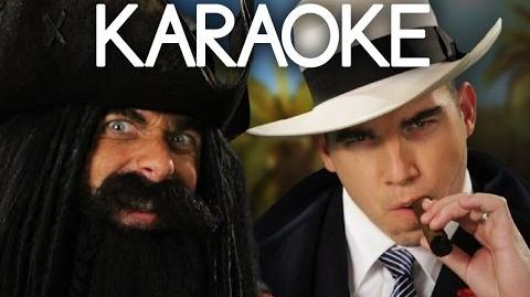 KARAOKE ♫ Blackbeard vs Al Capone. Epic Rap Battles of History