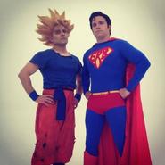 Goku and Superman Behind The Scenes