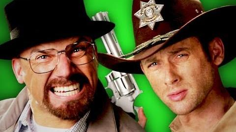 Rick Grimes vs Walter White. Behind the Scenes
