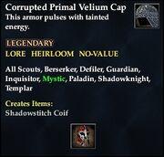 Corrupted Primal Velium Cap