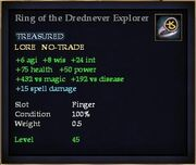Ring of the Drednever Explorer