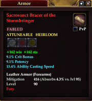 Sacrosanct Bracer of the Stormbringer