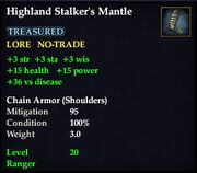 Highland Stalker's Mantle