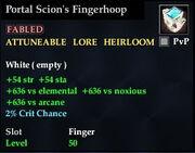 Portal Scion's Fingerhoop