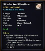 Rilissian War Rhino Drum