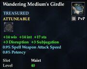Wandering Medium's Girdle
