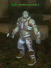 A Deathfist runesmith