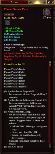Planar Pirate's Pants