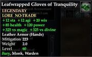 Leafwrapped Gloves of Tranquility