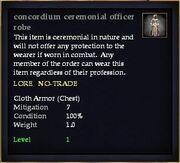 Concordium ceremonial officer robe