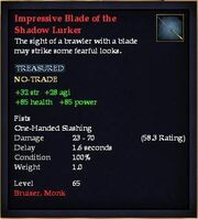 Impressive Blade of the Shadow Lurker