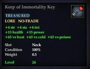 Keep of Immortality Key