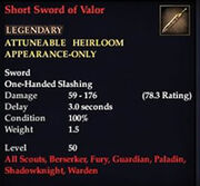 Short Sword of Valor