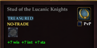 Stud of the Lucanic Knights
