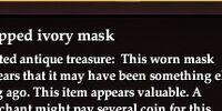 Chipped ivory mask