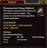 Flametouched Droag Halberd