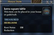 Kerra square table