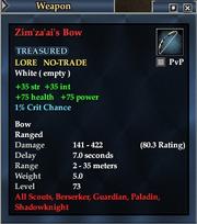 Zim'za'ai's Bow