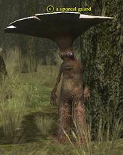 A sporeal guard
