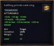 Halfling private rank ring