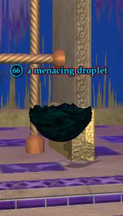 A menacing droplet