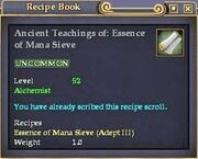 Ancient Teachings of- Essence of Mana Sieve