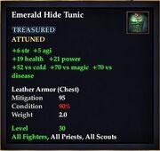 Emerald Hide Tunic