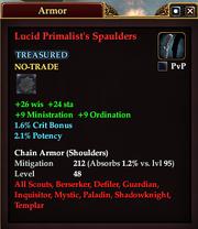 Lucid Primalist's Spaulders