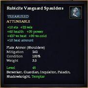 Rubicite Vanguard Spaulders