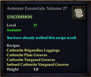 Armorer Essentials Volume 27