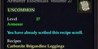 Armorer Essentials Volume 27