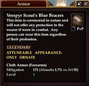 Vesspyr Scout's Blue Bracers