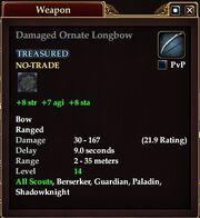 Damaged Ornate Longbow