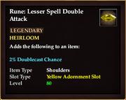 Rune Lesser Spell Double Attack