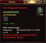 Iron Vanguard Greaves