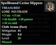 Spellbound Cerise Slippers