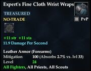 Expert's Fine Cloth Wrist Wraps